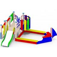 Песочный дворик «Кораблик» Р27 для детской игровой площадки