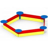 Детская песочница Звездочка P36 для детской игровой площадки
