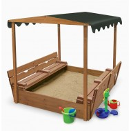 Детская песочница деревянная №4