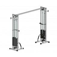 Многофункциональный тренажер для спины Блочная рамка двойная на 40 кг, крепление к стене/полу (TB002-40)