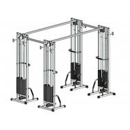 Многофункциональный тренажер для спины Блочная рамка двойная спаренная на 60 кг (TB004-60)