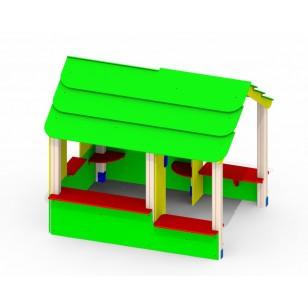 Детский домик из дерева «Хатынка» Р28 для игровой площадки