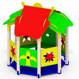 Детский домик из дерева «Звездочка» Р30 для игровой площадки