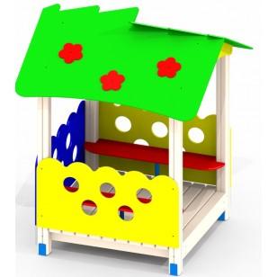 Детский домик из дерева Цветочек P35 для игровой площадки