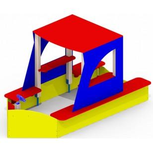 Песочный дворик «Яхта» Р26 для детской игровой площадки