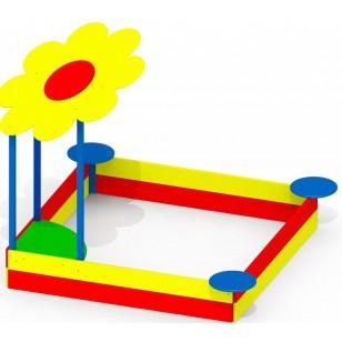 Детская песочница большая Цветочек P47 для детской игровой площадки
