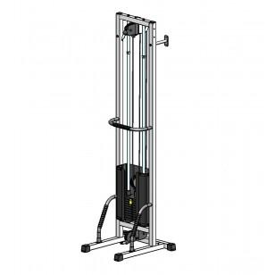 Многофункциональный тренажер для спины Блочная рамка одинарная на 60 кг, крепление к стене/полу (TB001-60)