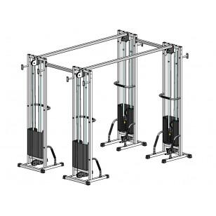 Многофункциональный тренажер для спины Блочная рамка двойная спаренная на 100 кг (TB004-100)